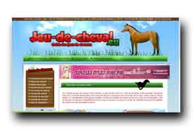 screenshot de www.jeu-de-cheval.eu