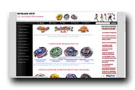 screenshot de www.beyblade.kingeshop.com