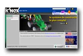 screenshot de www.knex.fr
