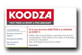 screenshot de www.koodza.fr