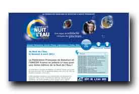 screenshot de www.lanuitdeleau.com