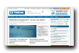 screenshot de www.latribune.fr