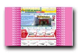 screenshot de www.leroidumatelas.fr