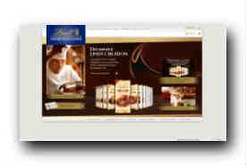 screenshot de www.lindt.com