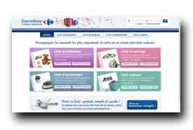 screenshot de listes-cadeaux.carrefour.fr