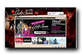 screenshot de www.luckysevenshop.com