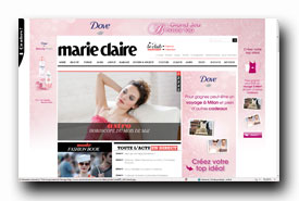 screenshot de www.marieclaire.fr