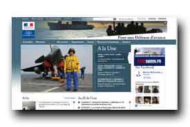 screenshot de www.defense.gouv.fr/marine