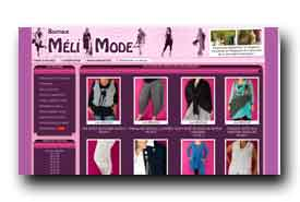 screenshot de www.melimode.fr