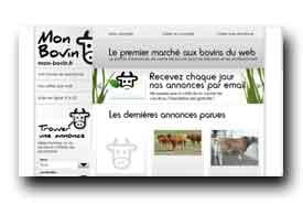 screenshot de mon-bovin.fr