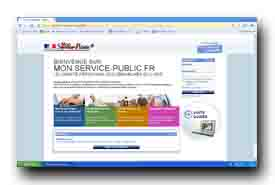 screenshot de mon.service-public.fr