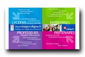 screenshot de www.monstageenligne.fr