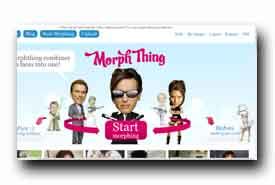 screenshot de www.morphthing.com