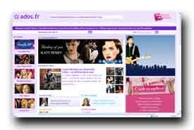 screenshot de musique.ados.fr