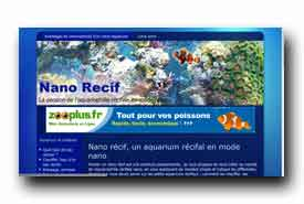 screenshot de www.nano-recif.com