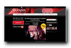 screenshot de www.outspot.be/fr