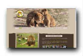 screenshot de www.parc-des-felins.com
