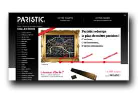 screenshot de www.paristic.fr