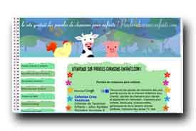 screenshot de www.paroles-chansons-enfants.com