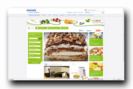 screenshot de www.philips.fr/cuisine