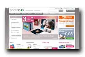 screenshot de www.photobox.fr