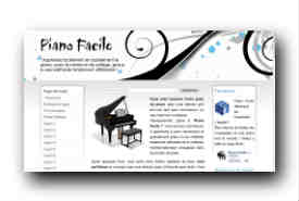 screenshot de www.pianofacile.com