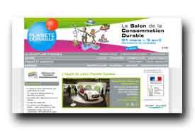 screenshot de www.planete-durable.com