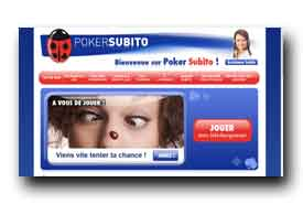 screenshot de www.pokersubito.fr