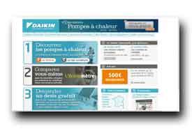 screenshot de www.pompeachaleurdaikin.fr