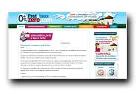 screenshot de www.pretatauxzero.com