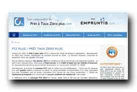 screenshot de www.pretatauxzeroplus.com