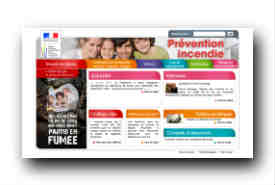 screenshot de www.prevention-incendie.gouv.fr