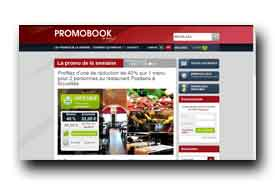 screenshot de www.promobook.be/fr