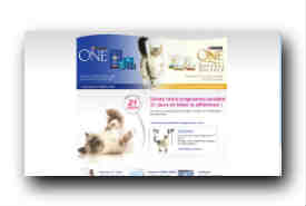 screenshot de www.purina-one.fr