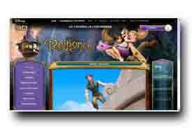 screenshot de www.raiponce-lefilm.fr