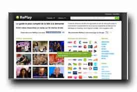 screenshot de www.replay.fr