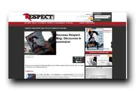 screenshot de www.respectmag.com