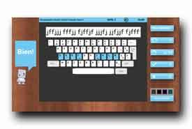 screenshot de www.sense-lang.org/typing/tutor/FR_tutorial.php