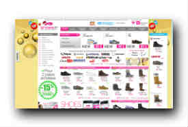 screenshot de www.shoes.fr