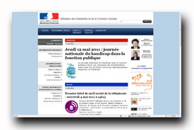 screenshot de www.solidarite.gouv.fr