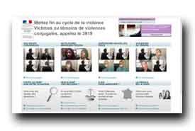 screenshot de www.stop-violences-femmes.gouv.fr