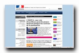 screenshot de www.travail-emploi-sante.gouv.fr