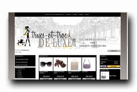 screenshot de www.trucs-et-troc-de-luxe.com