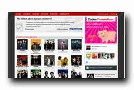 screenshot de www.upconcert.fr