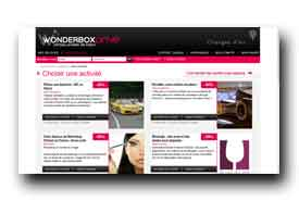 screenshot de venteprivee.wonderbox.fr