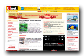 screenshot de www.01net.com