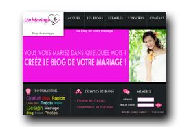 screenshot de www.1mariage.fr