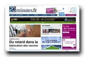 screenshot de www.20minutes.fr