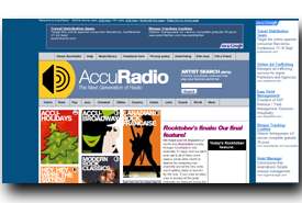 screenshot de www.accuradio.com
