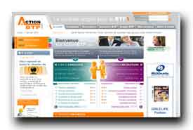 screenshot de www.actionbtp.com